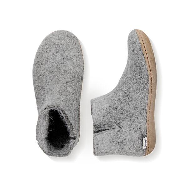 Glerup kort ankelstøvle i 100% uld