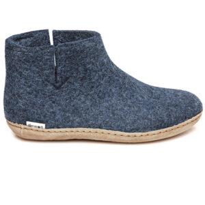 Glerups støvle med skindsål - her i blå - gratis fragt