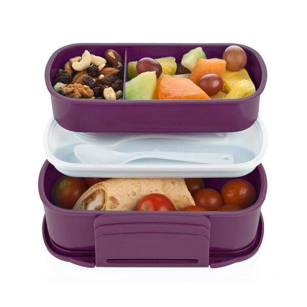 ruminddelt madkasse uden BPA - 2 lag - berry