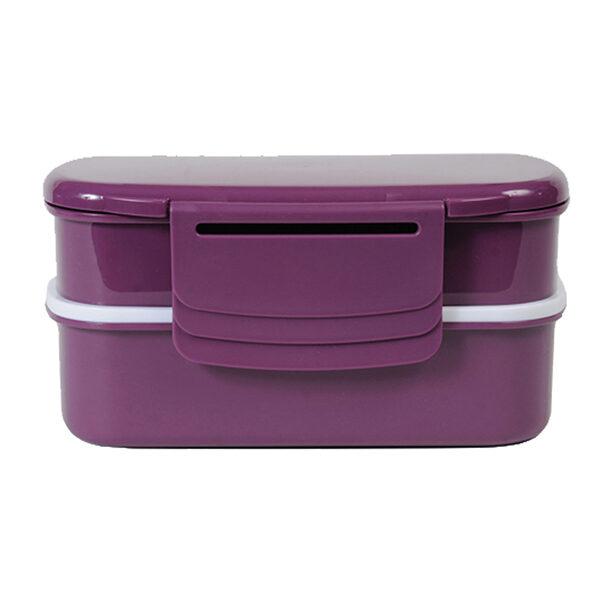 rumopdelt madkasse til børn - BPA fri _ fås i 3 farver, her i farven berry