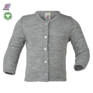Engel uld cardigan til babyer - kr 220 - her i grå melange
