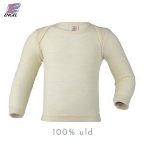 langærmet bluse i 100% merino uld til børn - kr. 189