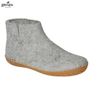 Glerups kort støvle med gummisål - her i grå - kr. 700 og gratis fragt