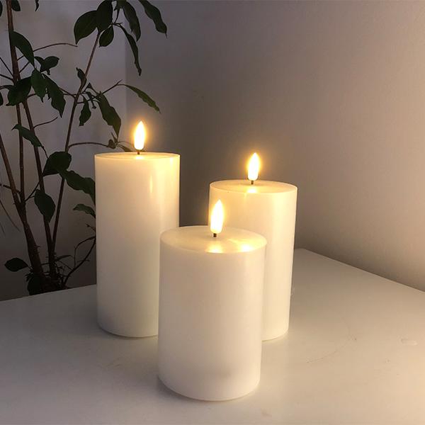 LED bloklys brede i 3 forskellige højder - pris fra kr. 119- pris fra kr.